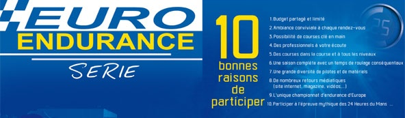 Euro Endurance Série: 5 épreuves en 2015