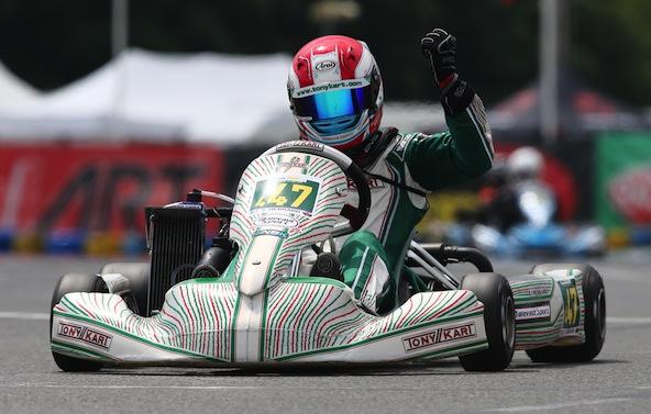 Sacha Hebrard, vainqueur du Trophée Kart Mag en Rotax à Varennes en 2016
