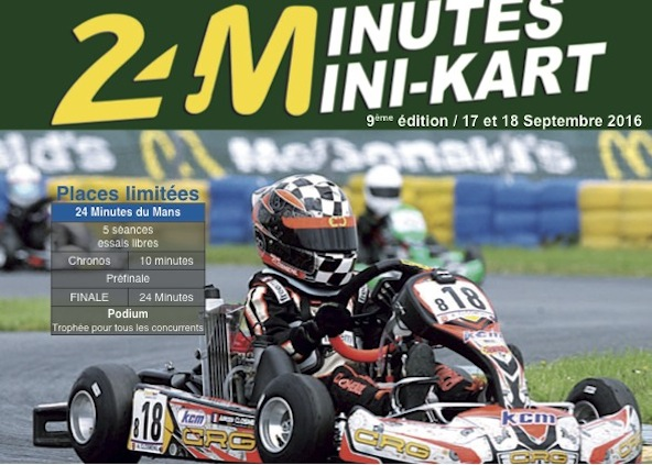 le mans inscriptions kart legend 24 mn minikart kartmag. Black Bedroom Furniture Sets. Home Design Ideas
