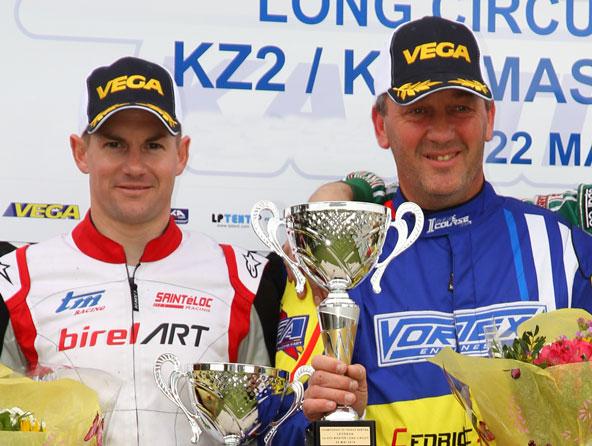 En KZ2 Master, victoire pour Savouret (à dr.) et titre pour Guilvert