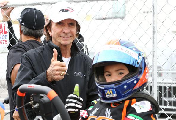 Emmo Fittipaldi avec son père Emerson, double Champion du Monde F1 en 72 et 74