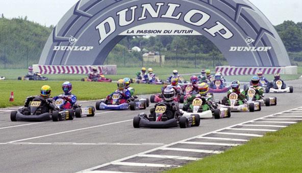 Nico Rosberg (220) en première ligne au côté de Lewis Hamilton (203) au Val d'Argenton en Formule A en 2000