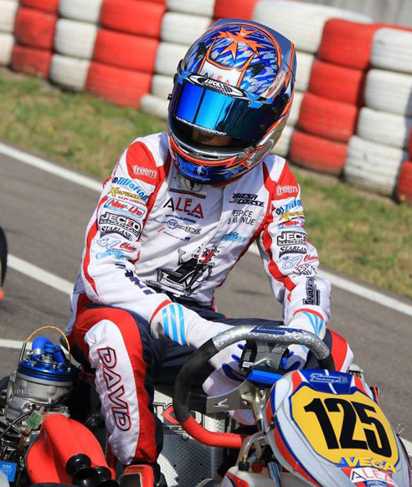 Encore un podium pour Hadrien David en OK-Junior !