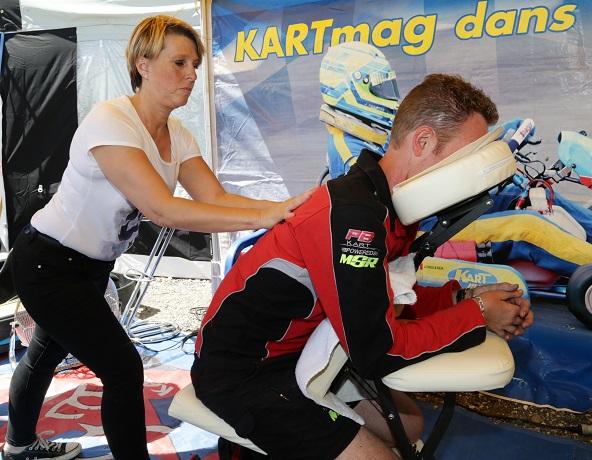 Christelle utilise une chaise spécifique Amma