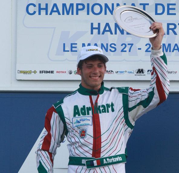 Adrien Turkawka, le Champion actuel en Handikart