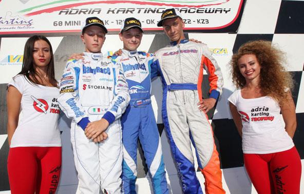 Une 2e place pour Luca Bosco (à g.) dans l'une des deux courses OK-Junior