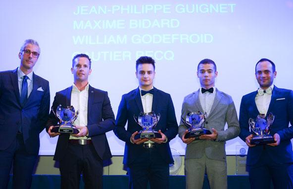 Les vainqueurs des 24 Heures du Mans Karting récompensés