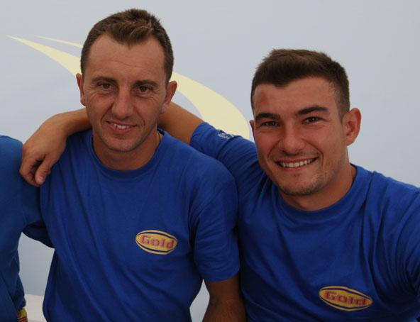 Davide Forè au Mondial 2016 en Suède, ici avec le Français Alexandre Arrue