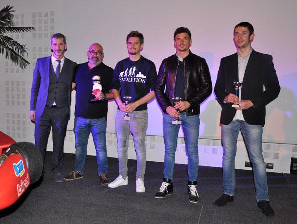 Podium de la course loisir, lors duquel un hommage a été rendu à au regretté Anthony Cola Francesco, en présence de son papa.