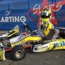 Xavier Handsaeme et des étrangers à l'Open Kart à Salbris