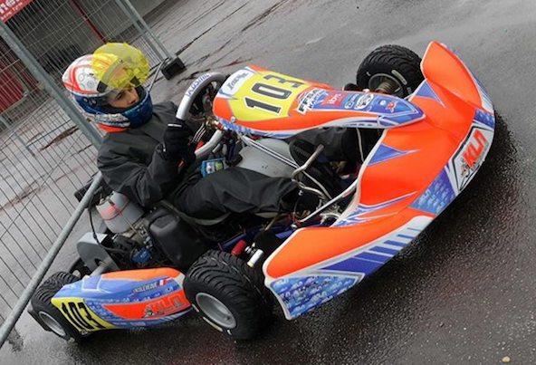 Enzo Leveque, vainqueur en X30 Junior, rapide sous la pluie comme sur le sec