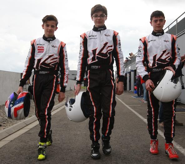 Belle surprise de l'équipe GP3 motorisée en OK-Junior et managée par Marc Berteaux (Kartagène) et Rodolphe Besnard (WinTec)