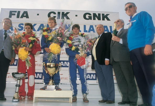 Podium du Mondial 88 avec deux Français sur le podium