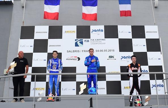 Vivement un nouveau podium 100% Français comme ici en KZ2 à Salbris au ois de mai