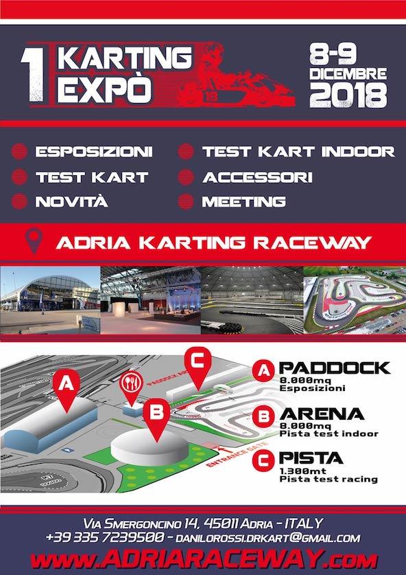 Danilo Rossi lance une Expo Kart a Adria en decembre-1