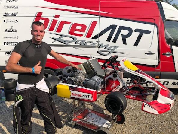 Thonon au Mondial KZ1 sur Birel ART avec KSW