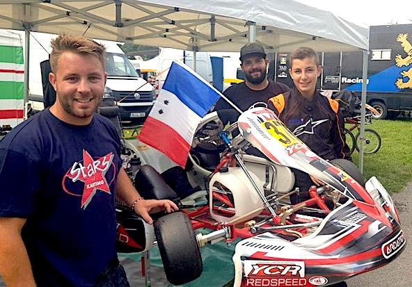 Andreas Hebert et son team Yohann Cresson Racing