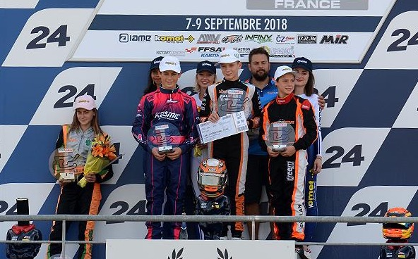 Podium de la finale X30 Junior