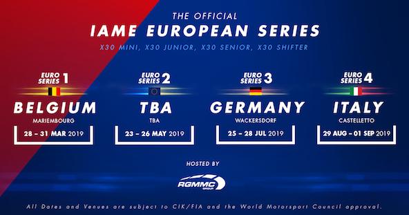 IAME Euro Series-Le calendrier 2019 est connu