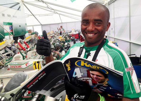 Une belle surprise pour Lorenzo Abo dans Kart Mag-1