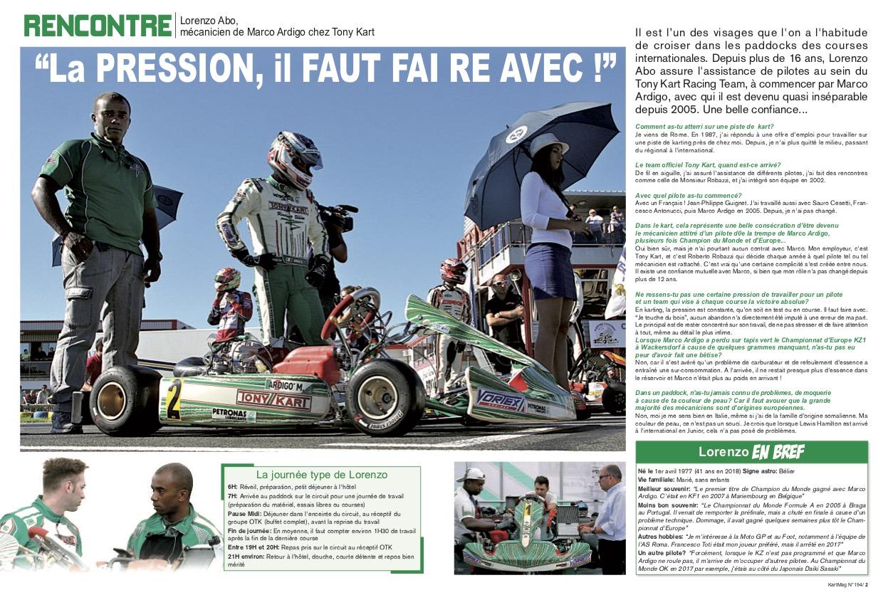 Une belle surprise pour Lorenzo Abo dans Kart Mag-2