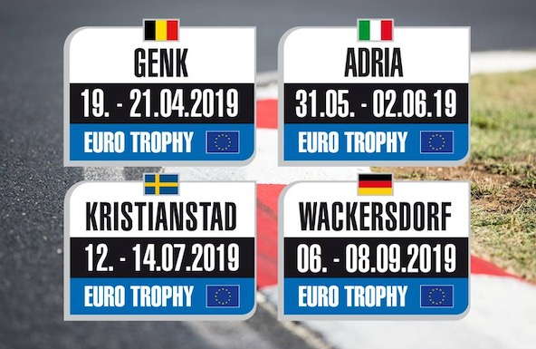 Calendrier 2019 du Rotax Max Challenge Euro Trophy