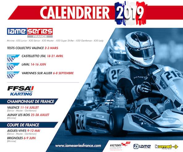 IAME France divulgue son calendrier 2019