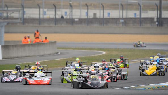 Le Championnat de France s'est terminé au Mans, en même temps que l'Europe (Photo CIK-FIA / Agence KSP - Eric Severe)