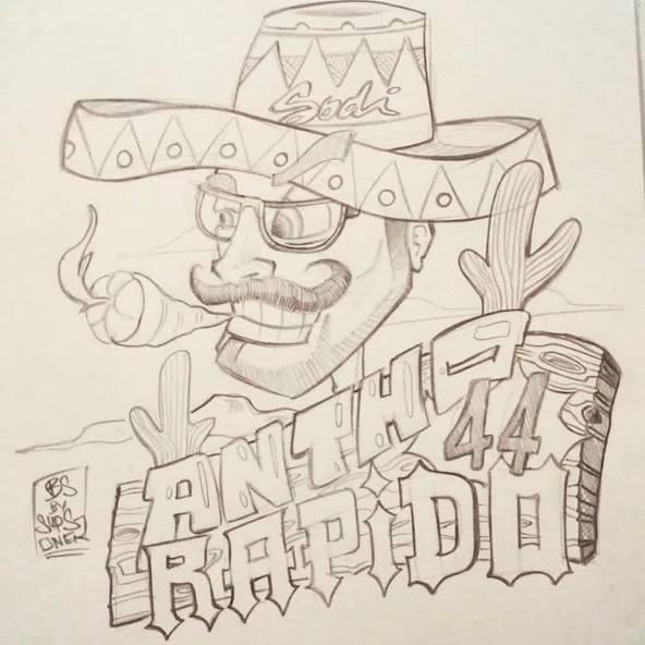 Anthony Abbasse caricaturé