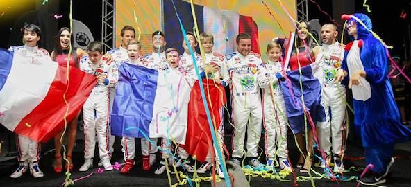Le Team France lors de la présentation des équipes