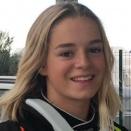 La kartwoman Madeline Boisson prête pour un saut en kart