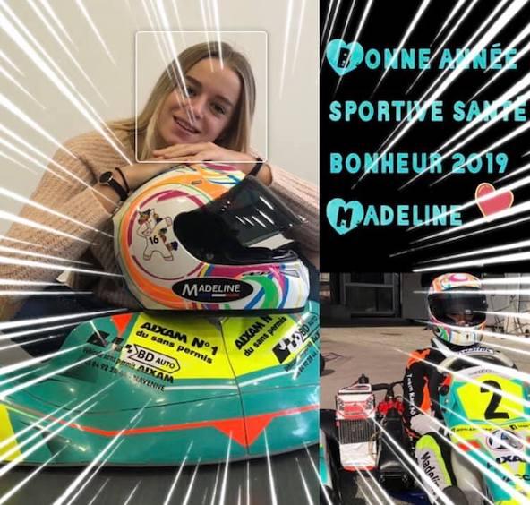 La kartwoman Madeline Boisson prete pour un saut en kart-3