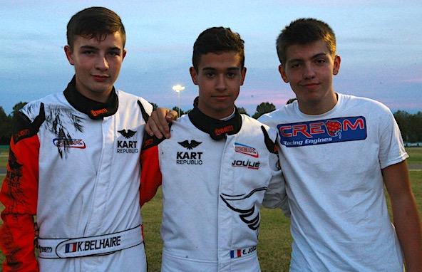 Ici avec Etienne Cheli (à dr.), Kilian Belhaire et Enzo Joulié seront à Valencia