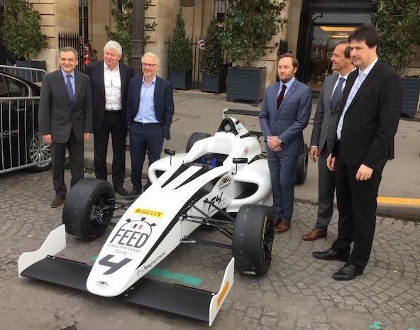 Feed Racing a récemment présenté son nouveau concept avec ses partenaires, place de la Concorde.