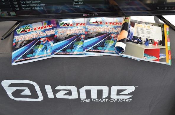 Beaucoup de pilotes ont pu découvrir ce catalogue lors des tests IAME à Valence