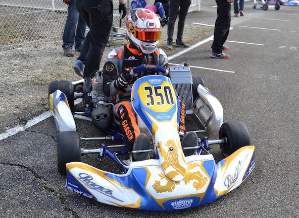 Champion de France Senior 2018 Bastien Gassin roule Praga