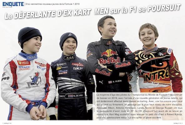 Le parcours karting des nouveaux venus en F1 dans Kart Mag