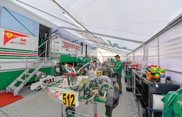Le plateau de KZ2 sera releve ce week-end a la WSK a Sarno-1