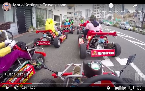 Mario Kart en pleine ville. Autorisé ou non?