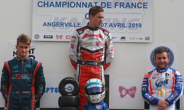 Civico Espona, Valtanen (vainqueur) et Picot, ici de g. à dr.