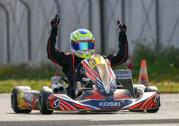 Victoire du team Koski Motorsport en OK comme en OK-Junior (ici Wernersson en photo)