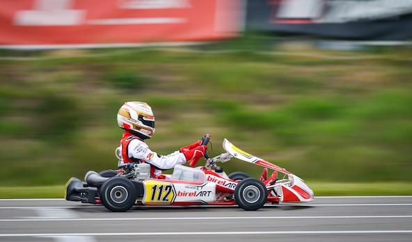 Luigi Coluccio en pole position en OK (Photo CIK-FIA / Agence KSP)