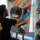 Loïc Thiery, le peintre supersonique, présent à la Kart Cup