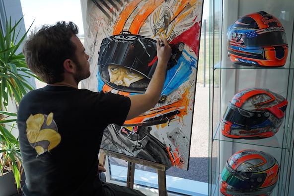 Loic Thiery le peintre supersonique present a la Kart Cup