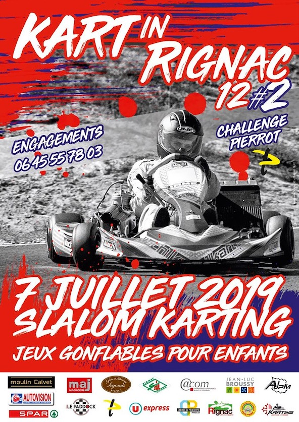 Un slalom Karting dans le centre de Rignac debut juillet