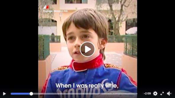 Video-Des images de Charles Leclerc tout jeune kartman