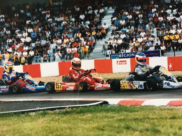 Au Championnat d'Europe au Val d'Argenton en 1999, ici derrière l'Argentin José-Maria Lopez et Julien Poncelet