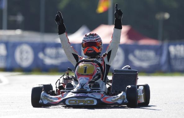 Verstappen Champion du Monde KZ1 en 2013 à Varennes