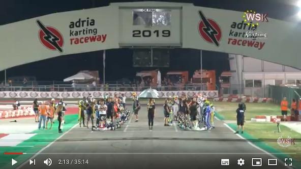 Les videos de la WSK Euro Series a Adria sont en ligne