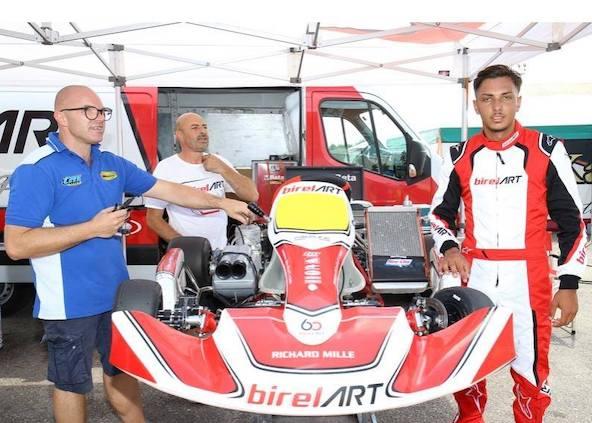 KZ2-Le rapide Giuseppe Palomba passe de Croc a Birel ART